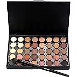 Lisingtool Matte Shimmer Eyeshadow Cream Makeup Palette Set 40 Colors+ Brush Set Cosmetic (A)