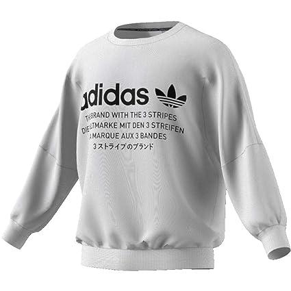 adidas NMD Crew Sudadera, Hombre, Blanco, 2XL