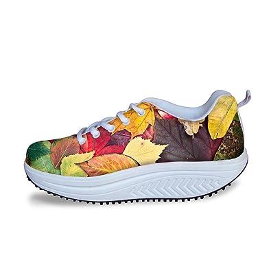 bf0d3dc67bd642 FashionPaint Womens Fashion Swing Strength Fitness Walking Sneaker Ladies  Toning Rocker Shoes