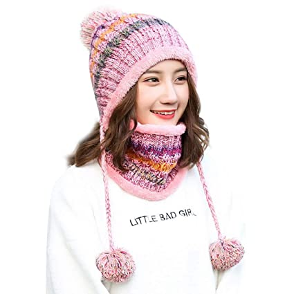 03dc2cb4ce0f3 Image Unavailable. Image not available for. Color  WEEKEND SHOP Women  Beanie Lined Women Knit Beanie Scarf ...