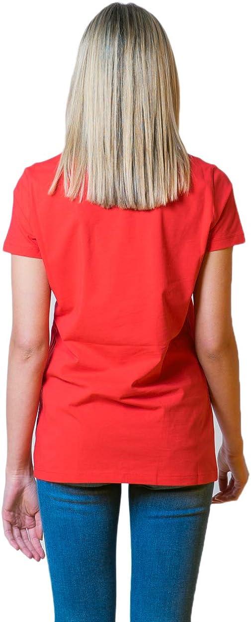 Love Moschino T-Shirt Donna Logo Core w4f7367e1951 Rosso