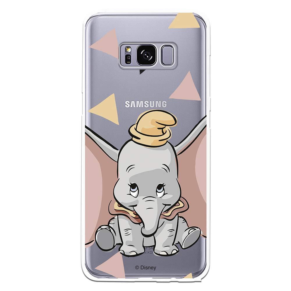 Funda Oficial Disney Dumbo Silueta Transparente para Samsung Galaxy S8 Licencia Oficial de Disney