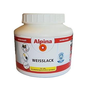 Alpina 910 Ml Weisslack Seidenmatt Zum Spruhen Streichen Rollen