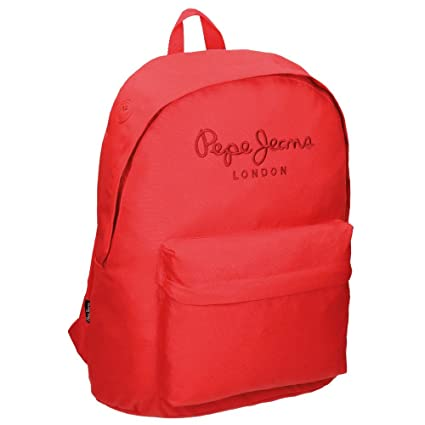 Pepe Jeans Plain Color Mochila Escolar, 21.5 litros, Color Rojo
