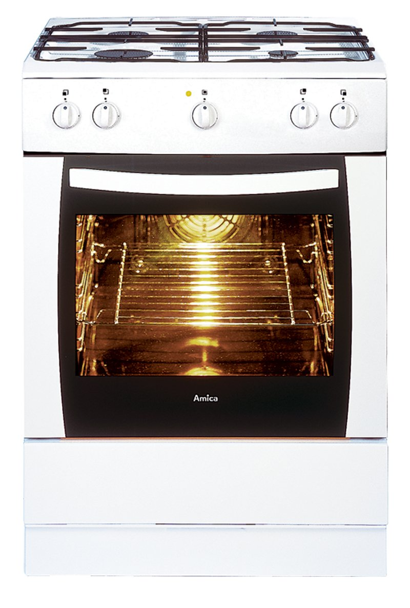 Amica 601GG5.33ZPYFG(W) Single Cavity Gas Cooker: Amazon.co.uk: Large  Appliances
