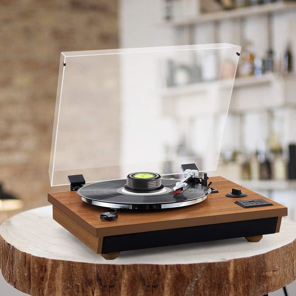 peso del disco LP de vinilo estabilizador de disco di/ámetro de 64 mm Nivel de burbuja 3 en 1 grapadora para tocadiscos Viborg 60HZ 628B