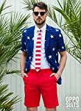 OppoSuits Mens Stars and Stripes Party Costume Suit