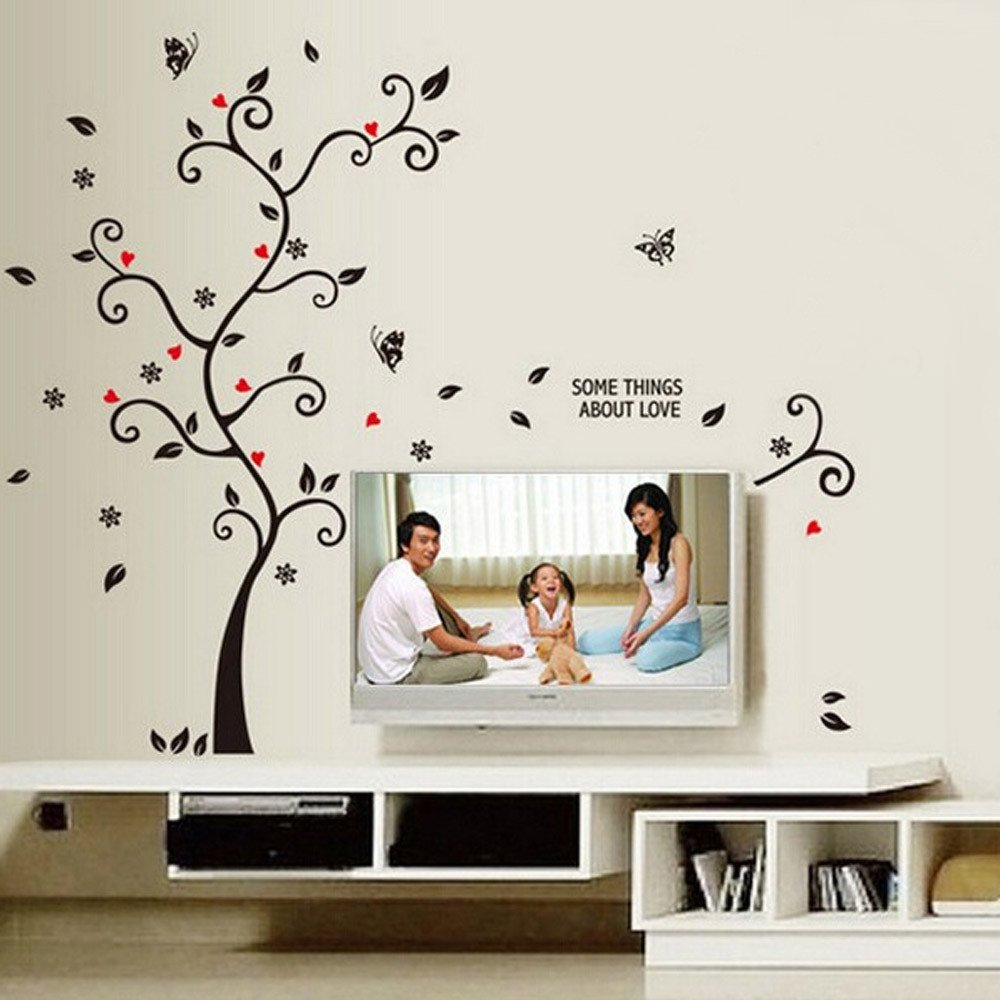 KNDDYY Vinyl Wall Sticker Wall Murals for Living Room Bedroom Sofa Wall Background Originality (Frame Tree)