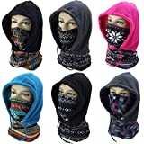 OUTERDO Full Face Mask Balaclavas Cycling Motorcycle Ski Thermal Warm Cap Neck Scarf