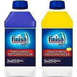 Finish Finish 机器清洁剂,洗碗机清洁剂 3 x Regular & 3 x Lemon