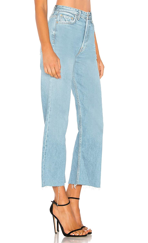 Large Taille Haute Femme Jeans Jean Culotte En Monyray Droit Jupe 80PXknwO