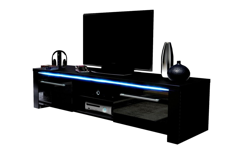 VIVALDI VIVALDI VIVALDI MEBLE LED TV Board schwarz Hochglanz Fernsehtisch Sideboard Kommode Niedrigboard Schrank d9cc08
