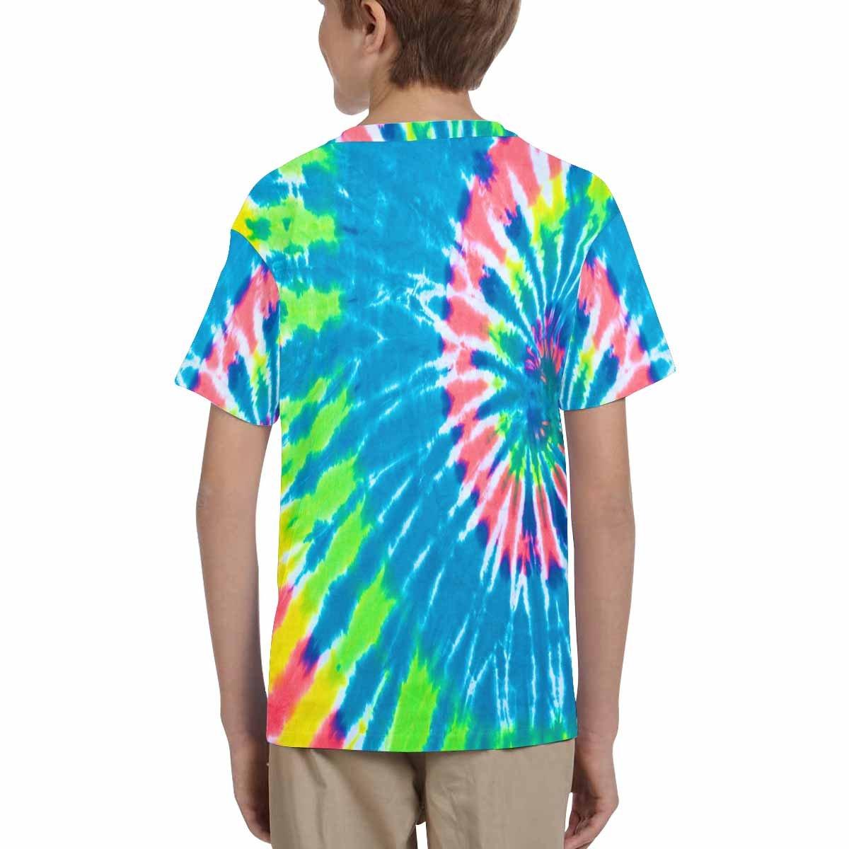 INTERESTPRINT Childs T-Shirt Tie Dye Background XS-XL