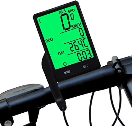 Waterproof bicycle bike computer with LCD display