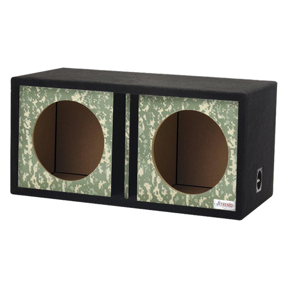 Atrend GFX Series Dual Vented Divided Chamber 12 Subwoofer Enclosure Platinum Wood Grain
