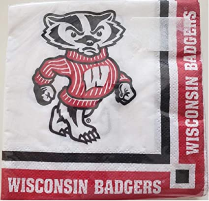 Amazon Com Wisconsin Badgers Beverage Napkin 60 Count Health Personal Care