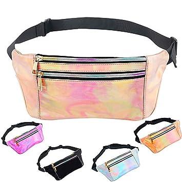 Portable Holographic Gürteltasche Laser Hüfttaschen Hip Bag für Frauen Mädchen