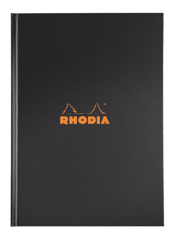 Nero 90 g con copertina rigida 80 fogli Rhodia 19052C Taccuino Rhodiactive calendario 21 x 29,7 cm a quadretti A4