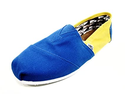 1c08672af5c24 Toms Classic UCLA Campus Canvas Yellow / Blue Give Back to The world! New W  Box (12)