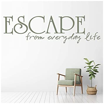 Azutura Escape From Everyday Life Wall Sticker Spa Quotes Wall Decal