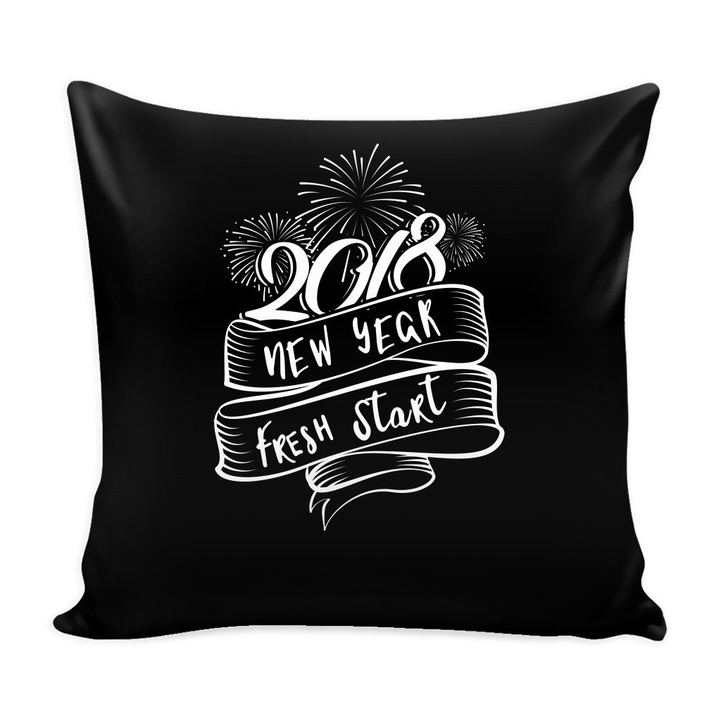 New Year 16 x 16 Pillow Cover with Insert - New Year Fresh Start Gift Idea by teelaunch (Image #1)