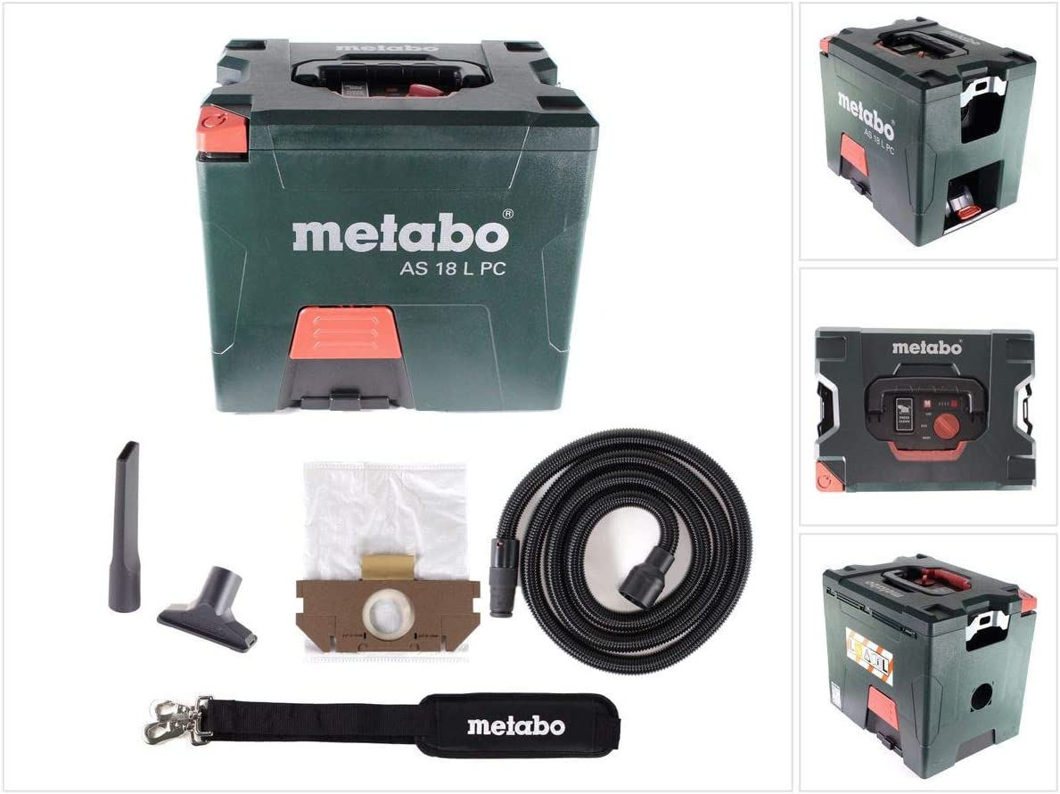 Metabo 602021850 602021850-Aspirador a bateria 18V Ah Li-Ion AS 18 ...