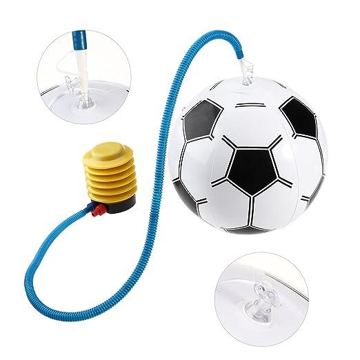 Toyvian PVC Inflable Dados Jumbo + Blanco Inflable balón de fútbol ...