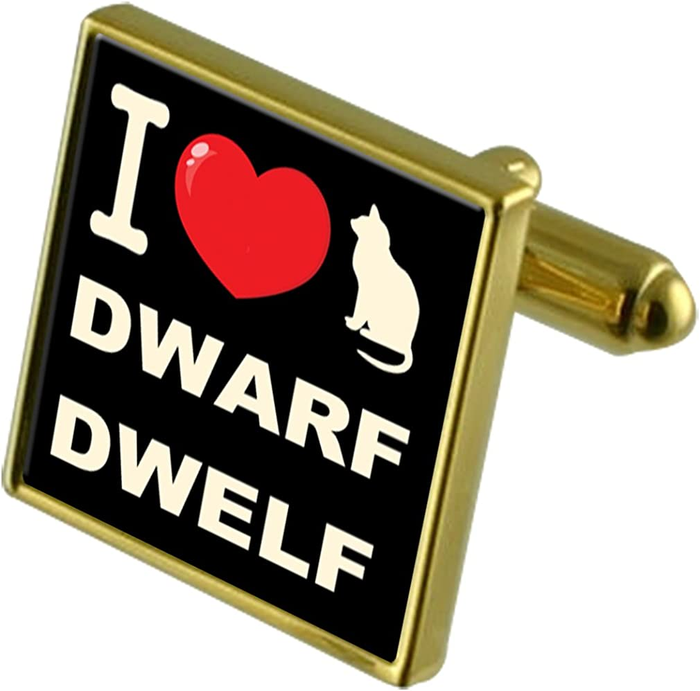 Select Gifts I Love My Cat Gold-Tone Cufflinks Dwarf Dwelf