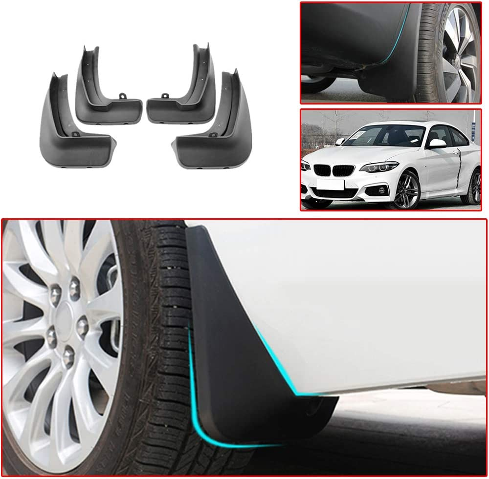 Top Quality Universal BMW 5 Series Black Rubber Car Moulded MUDFLAPS Full set