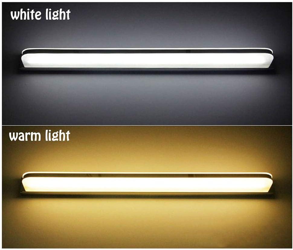 Legou Spiegellampe Badlampe Badleuchte Spiegelleuchte Wandleuchte, Wasserdicht Und Beschlagfrei,Edelstahl Led Badezimmerlampe, FüR Bad Spiegel Leuchte,6000K Weißes Licht,150cm 80cm