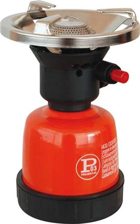 Fornello a gas GPL campeggio cucina portatile 1 2 3 4 fuochi (1 FORNELLO CARTUCCIA PIEZO) Domus