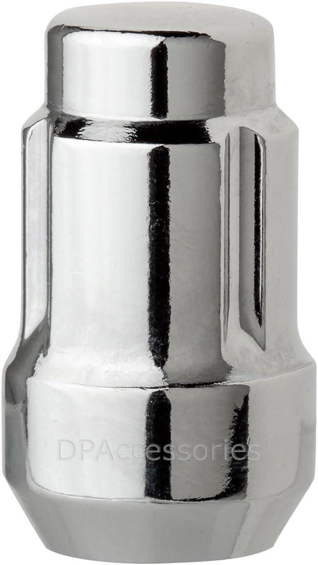 DPAccessories LCS3L6HC-CH04LK4 Chrome Wheel Locks 12x1.5 Closed End Spline Tuner Locking Lug Nuts Dual Hex Wheel Lock Set