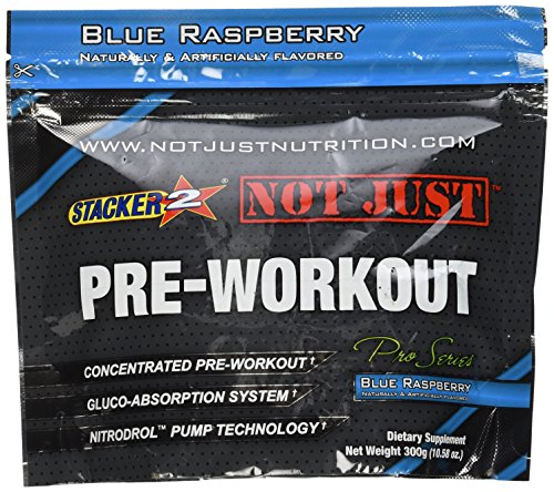 Stacker 2 Not Just Pre-Workout Pro-Series Energy Powder Jug, Blue Raspberry, 10.58 Ounce