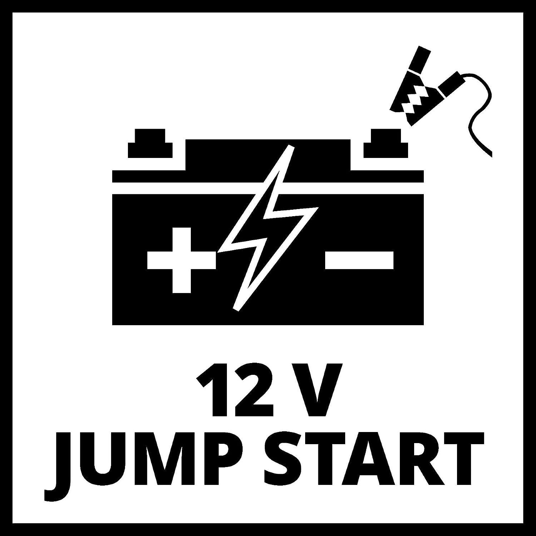 Einhell CE-JS 12 Auto-Starthilfe Starthilfe /& Energiestation, mobile Stromversorgung, Ladezustandsanzeige, Starthilfeset, inkl. Adapter