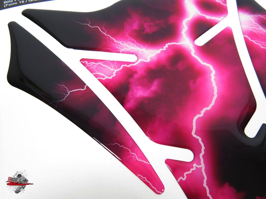 502340-VA Tankpad 3D Blitz Pink Protection pour r/éservoir de moto