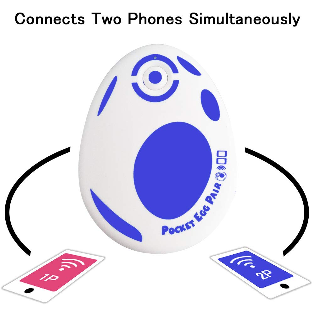JZW-Shop Pocket Egg Pair, New Pocket Egg Auto Catch Pokemon Connects Two Phones Simultaneously for Pokemon Go Plus Accessory Compatible with iPhone and Android (Blue) by JZW-Shop (Image #1)