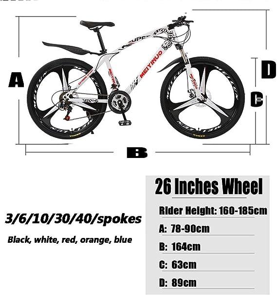 LFDHSF Bicicleta de montaña para Mujeres/Hombres, Bicicletas con ...