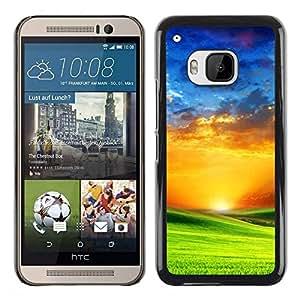 Be Good Phone Accessory // Dura Cáscara cubierta Protectora Caso Carcasa Funda de Protección para HTC One M9 // Vibrant Saturated Orange Blue Green