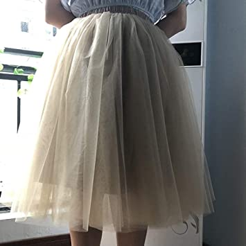 KLGDF Falda 6 Capas 65 cm Falda de Tul de Moda Faldas de tutú ...