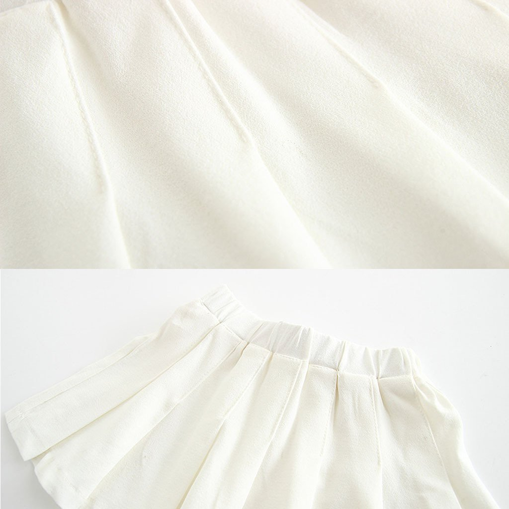 Girls White Skirt High Waisted Cosplay Costumes Skirts for Sports Tennis for Baby Toddler Kids 1-6 Years