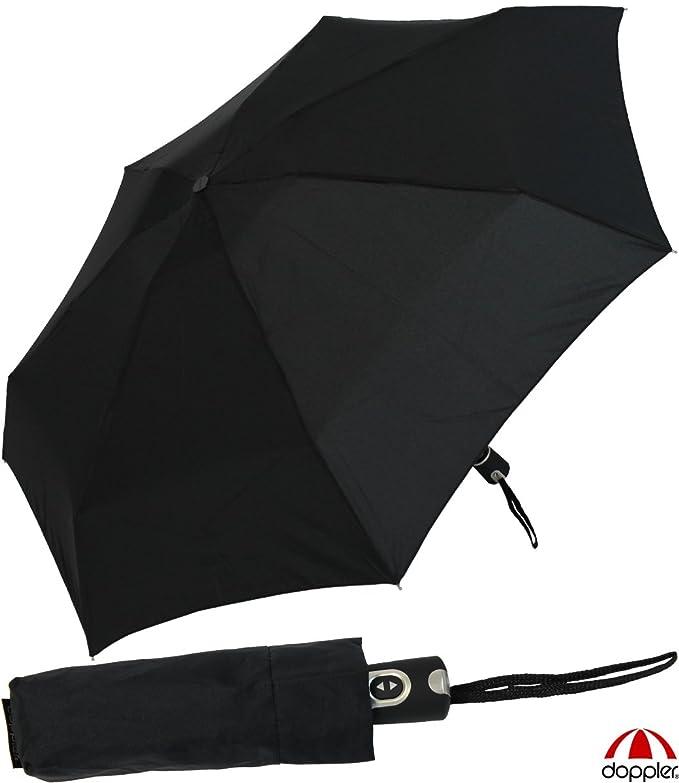 Doppler Paraguas de bolsillo Mágico Acero de carbono estable a prueba de tormenta encendido y apagado Automático - negro: Amazon.es: Equipaje
