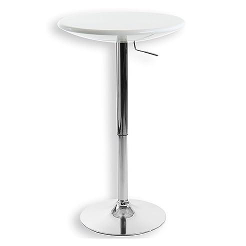 Beistelltisch aluminium  Bartisch Bistrotisch Beistelltisch Stehtisch DOMINIK, weiß ...
