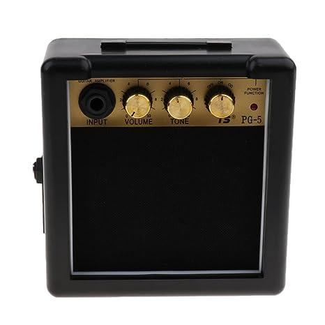 SM SunniMix Mini Amplificador Altavoz de Guitarras eléctricas portátil Accesorios Instrumento Musical con Clips de cinturón