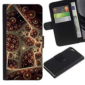 For Apple iPhone 5 / iPhone 5S,S-type® Turkey Carpet Abstract Bubble - Dibujo PU billetera de cuero Funda Case Caso de la piel de la bolsa protectora