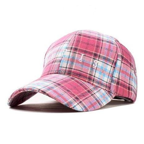 TRGFB Gorra de béisbol de Tela Escocesa Sombreros del Snapback de ...