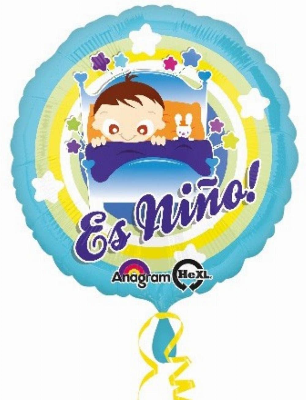 Anagram 31158 Es Nino Baby Boy In Bed Foil Balloon 18 Multicolored