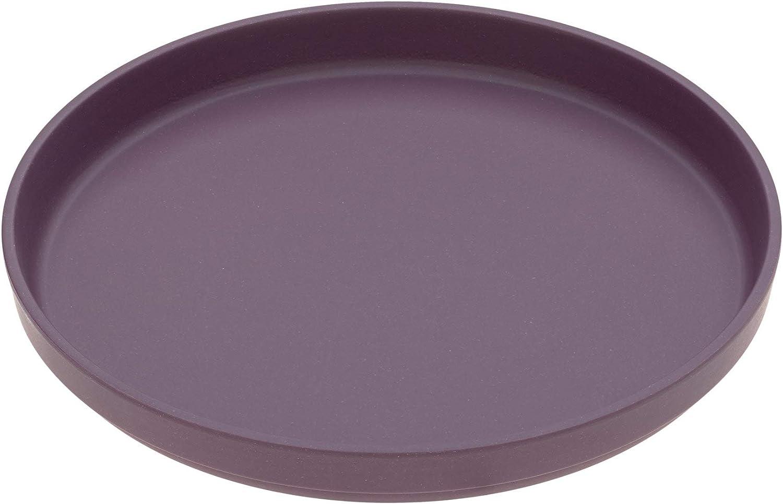 L/ässig Uni Plate Set de 2 melocot/ón//ciruela