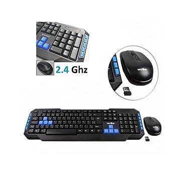 Teclado y raton receptor inalambrico 2.4 Ghz version 10m alcance gaming: Amazon.es: Electrónica