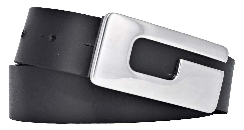 BERND GÖTZ Damengürtel Ledergürtel schmal schwarz 30mm Leder Gürtel Leather Belt