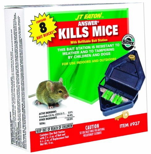 J.T. Eaton Refillable Mouse Bait Station Bromethalin Rodents